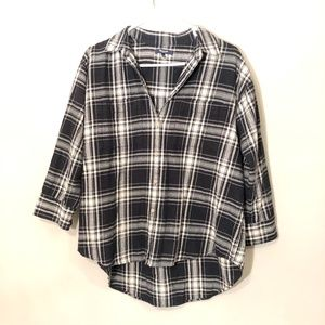 Madewell   Oversized Flannel Button Down Sz M